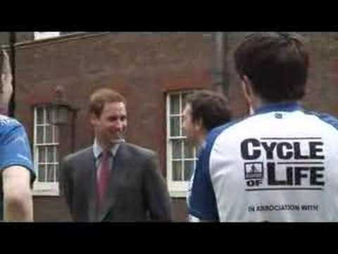 Prince William launches a charity bike ride through Africa