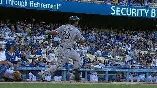Abreu hits a two-run homer