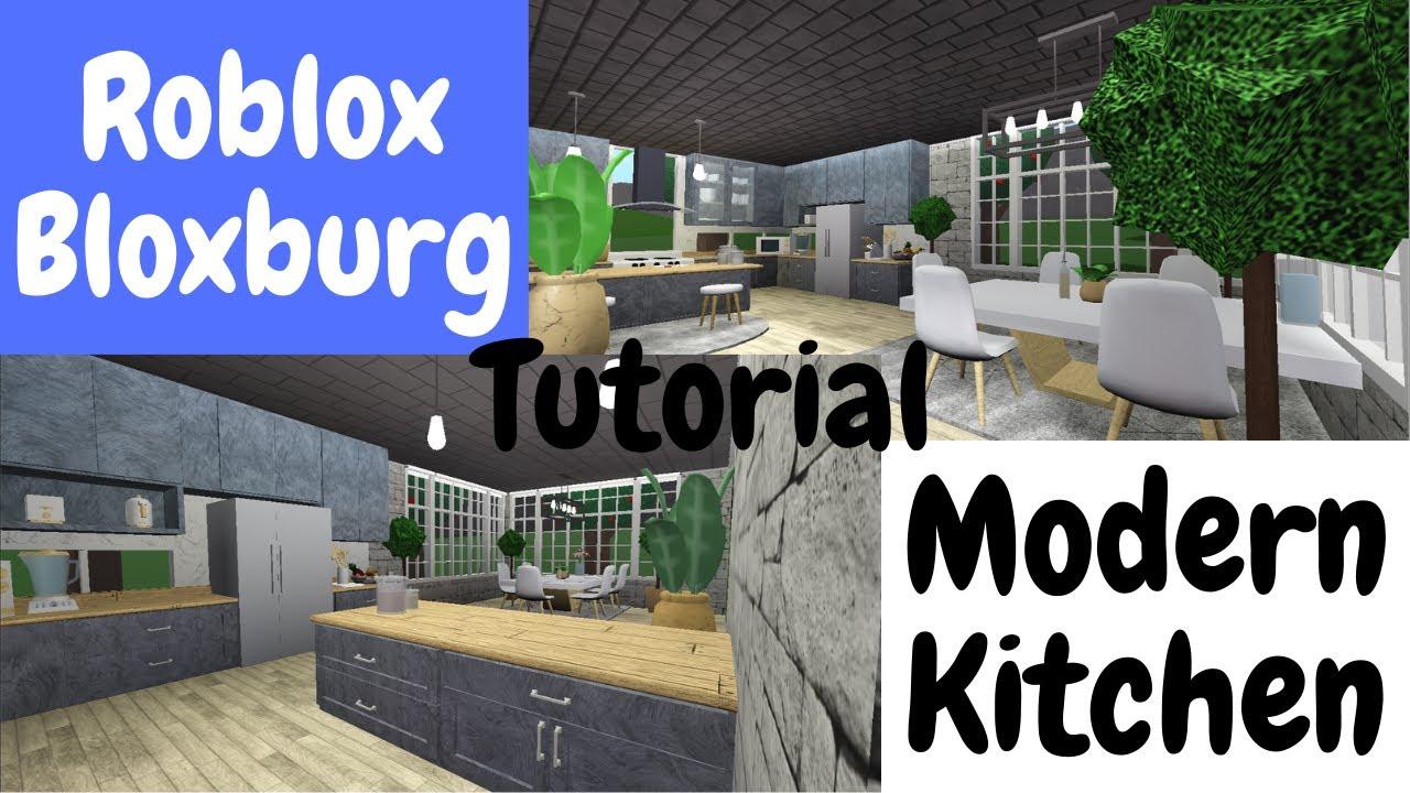 Robloxbloxburg Kitchen Revamp Tour Youtube Kitchen Roblox Bloxburg Tutorial How To Make A Modern Kitchen Youtube