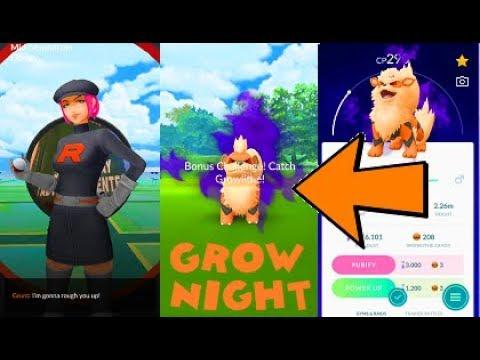 Pokemon Go Shadow Growlithe Catch & Arcanine Evolution