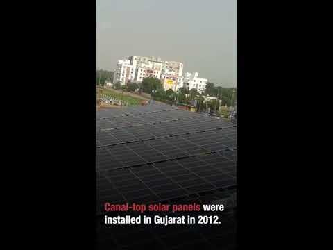 Canal-top solar power plants in Gujarat