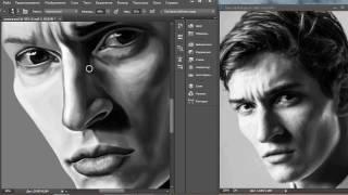Спидпейнт Матвей Лыков портрет. Speedpaint Matvey Lykov portrait