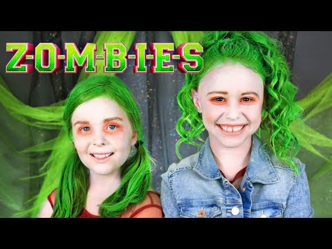 Disney ZOMBIES Eliza and Zoey Makeup and...