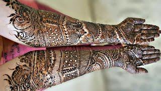 Full hand bridal henna design for both front hands | part 1