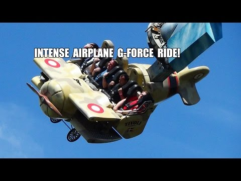 Vertigo - Absoultely INSANE Airplane G-Force Amusement Park Ride Tivoli Gardens Denmark