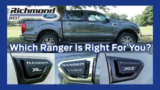 Check out our ranger trims web page: https://www.richmondfordwest.com/ford-trim-levels/ford-ranger-trim-levels-glen-allen-va.htm invento...