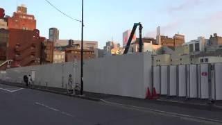 (仮称)渋谷区宇田川町計画の建設状況(2016年8月6日)