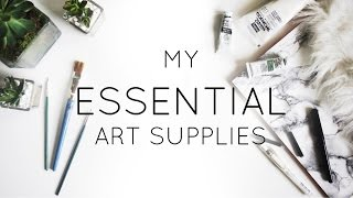 My Essential Art Supplies · Go-To Tools · SemiSkimmedMin