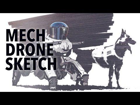 MECH DRONE SKETCH
