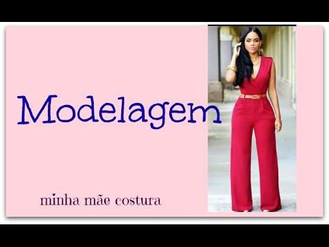 28d6fea95 MODELAGEM MACACÃO COM TRANSPASSE E ZIPER NAS COSTAS - YouTube