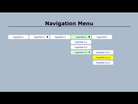 how to make a navigation bar with drop down menu