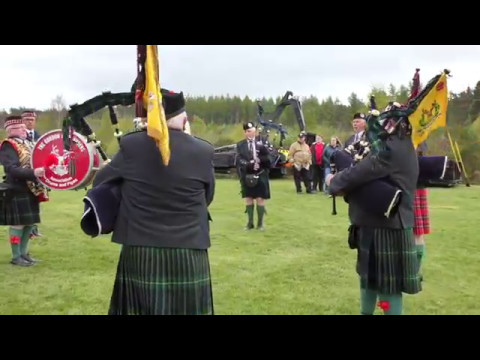 Gordon highlanders drums and pipe band Aberdeen at Deeside Activity Park MAYDAY! event
