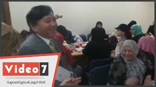 بالفيديو.. السفير اليابانى يتفقد مركز تدريب المرأة السورية بالجيزة