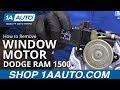 How To Replace Window Motor 94 02 Dodge Ram 1500