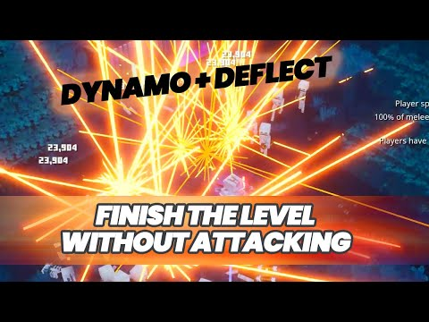 FIREWORKS! Minecraft Dungeons Complete Level Without Attacking (Dynamo + Deflect)