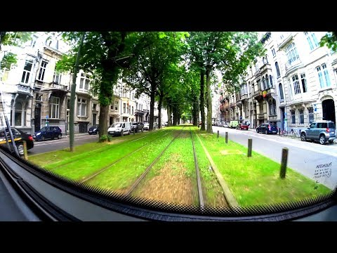 45 minutes | The Brussels Tram Route 3 - Whole Tramline