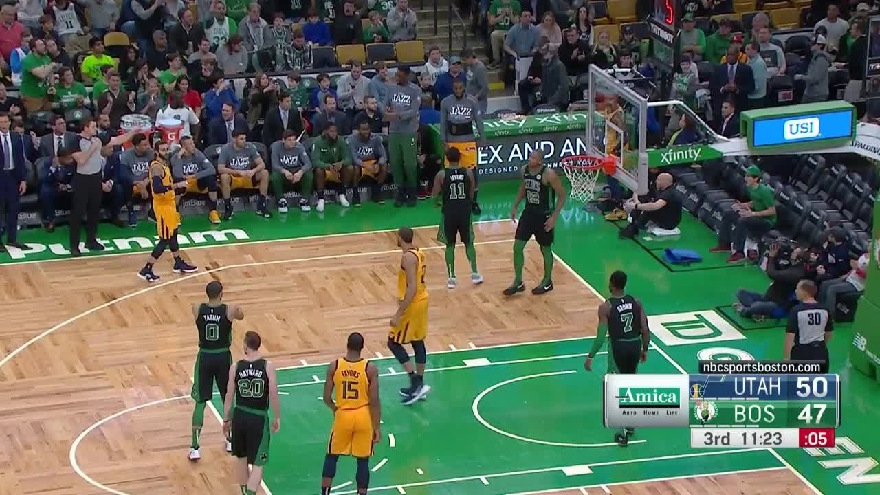3rd Quarter One Box Video Boston Celtics Vs Utah Jazz
