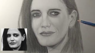 Simple Way to Draw a Face : Eva Green