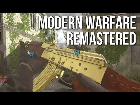 Modern Warfare Remastered Multiplayer Gameplay (MP5, Sniping, & Desert Eagle)