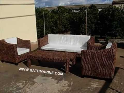 Bathmarine es muebles rattan natural y sintetico mimbre for Muebles ratan jardin