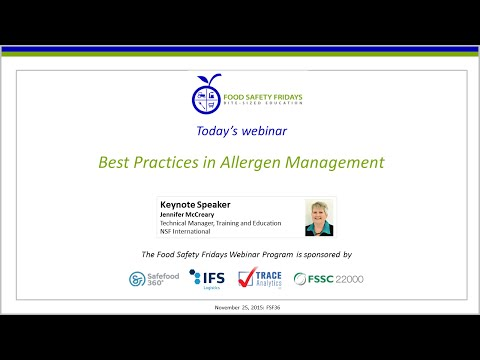 Best Practices in Allergen Management