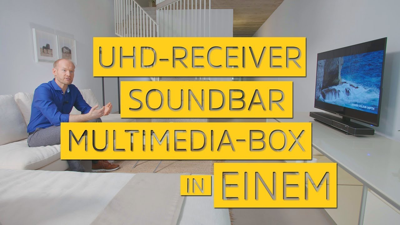 Video: UHD-Receiver Soundbar und Multimedia Box in einem Gerät. | SONATA 1 | TechniSat