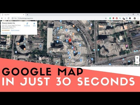 Embed Google Map In Website In Seconds 2019 | Add Responsive Google Map In HTML