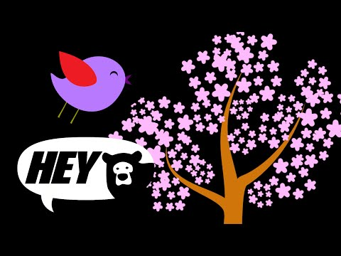 Baby Sensory - Tree Seasons - High Contrast Animations for Infant Visual Stimulation Fun Baby Video