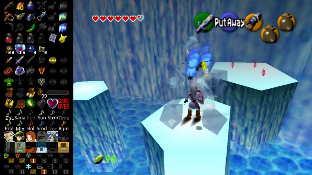 Ocarina of Time (Randomized) | Pt  7 - Ice Cavern - hmong video