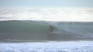 Glassy Sunset Barrels Raw | California Surfing