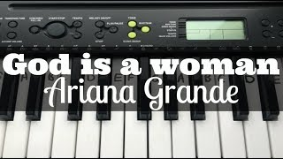 God is a woman - Ariana Grande | Easy Keyboard Tutorial With Notes