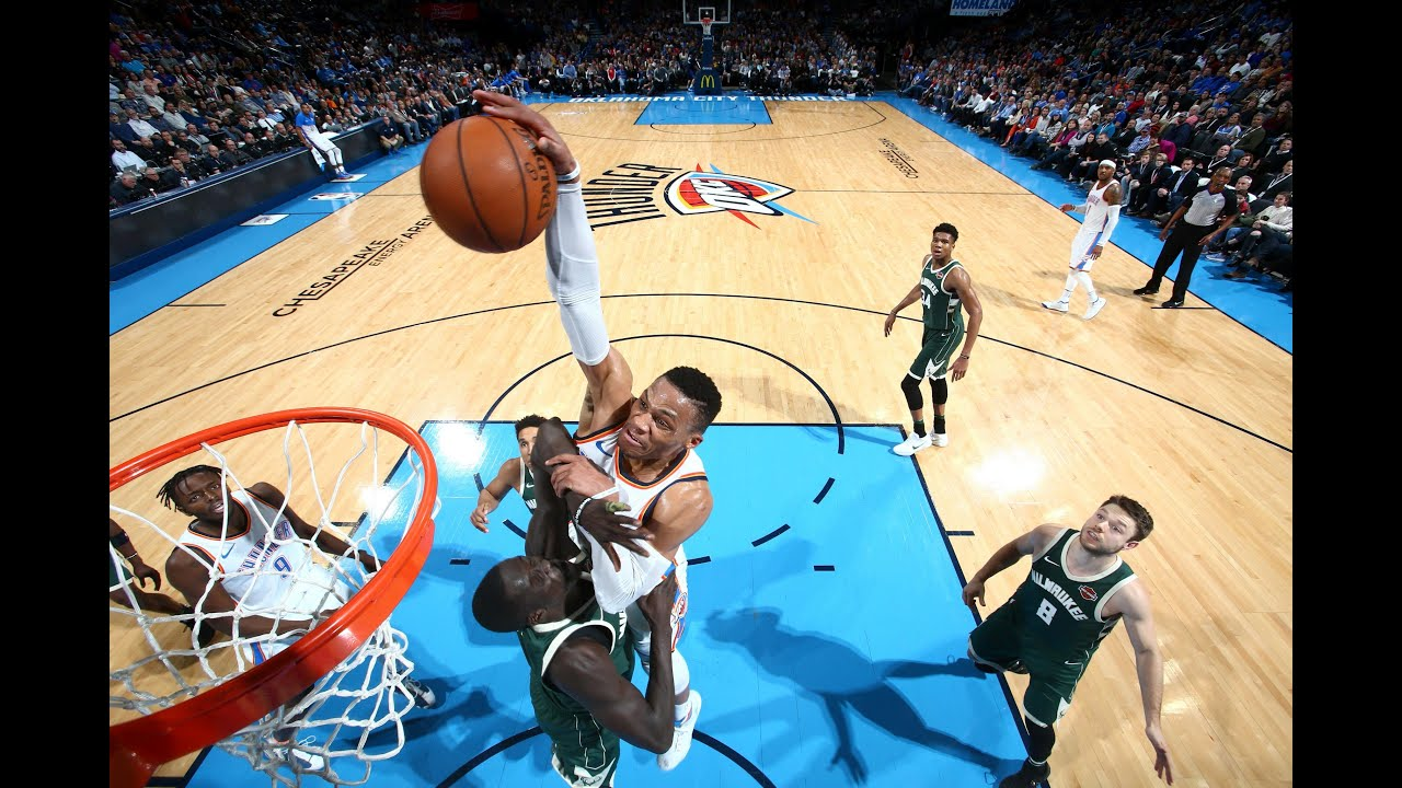 russell westbrook poster dunks and