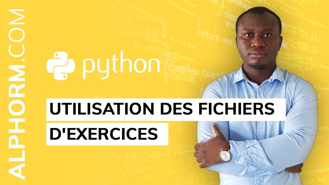 Formation Datascience avec Python - Prise en main des IDE | Utilisation des  fichiers d'exercices