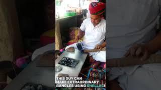 Making Hand made Bangles Indian Style  | Rajasthan, India