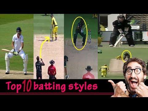 Top 10 batting styles
