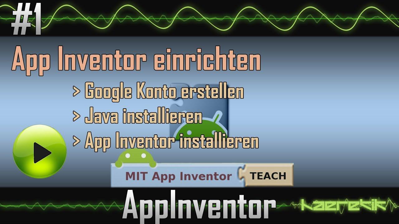 app inventor tutorial 1 app inventor einrichten haeretik youtube. Black Bedroom Furniture Sets. Home Design Ideas