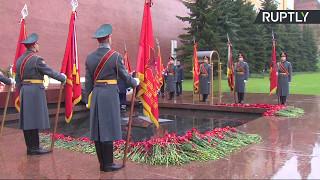Церемония к 50 летию зажжения вечного огня на Могиле Неизвестного Солдата