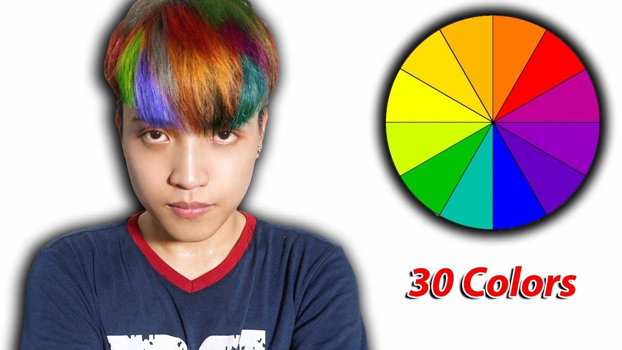 NTN – Tôi Đã Thử Nhuộm Tóc 30 Màu Sắc (Try Dyeing My Hair With 30 Different Colors)   Khái quát các thông tin liên quan nhuộm tóc màu xanh rêu nam chuẩn nhất