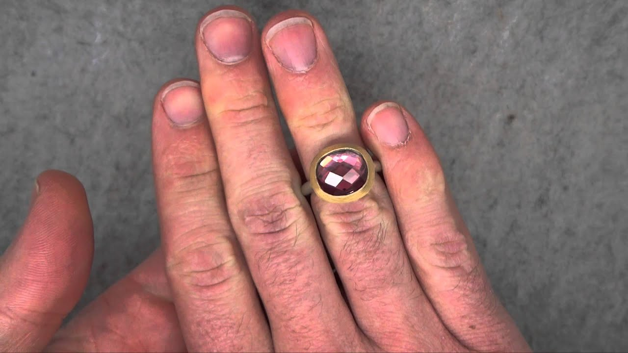 Mark Nuell - Pink Tourmaline Chequerboard Ring - ORRO Contemporary ...