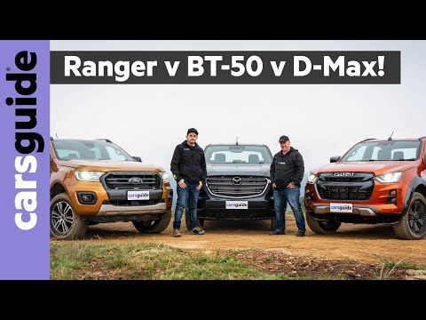 2021 Dual Cab 4WD Ute Comparison: Ford Ranger Wildtrak Vs Isuzu D-Max X-Terrain Vs Mazda BT-50 GT