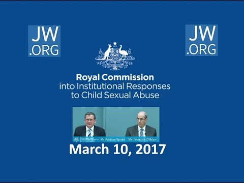 Australian Royal Commission on child sexual abuse vs JW org March 10, 2017
