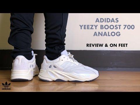 Armario Dibuja una imagen Oso polar  Yeezy 700 Analog Unboxing + Review - YouTube