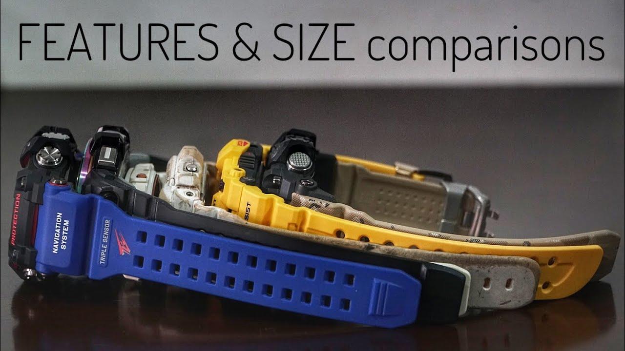 gps rangeman gpr b1000 g shock watch size comparisons. Black Bedroom Furniture Sets. Home Design Ideas
