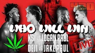🔥 LIVE 🥊 KSI vs Logan Paul 🤼 Deji vs Jake Paul 🥊 COUNTDOWN 🏆 Results 💀