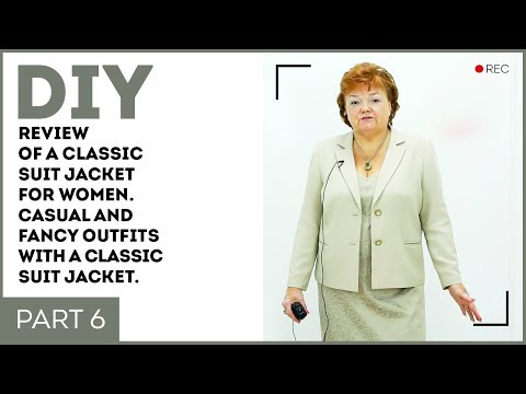 DIY: Review Of A Classic Suit Jacket For Women. Casual And Fancy Outfits With A Classic Suit Jacket.