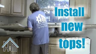 How to install kitchen counter tops, sink, faucet. Easy! Home Mender