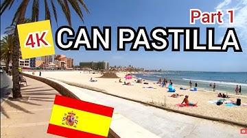 ⁴ᴷ CAN PASTILLA walking tour 🇪🇸 Palma, Mallorca (Majorca) Spain (Part 1) 4K