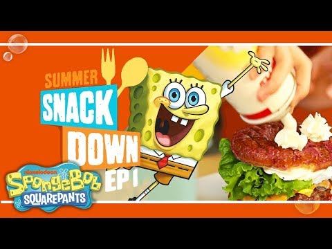 How To Make A SpongeBob-Inspired Krabby Patty 🍔 | Summer Snackdown Ep. 1 | Nick
