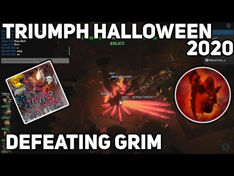 [Tower Battles] Triumph Halloween 2020|Defeating Grim