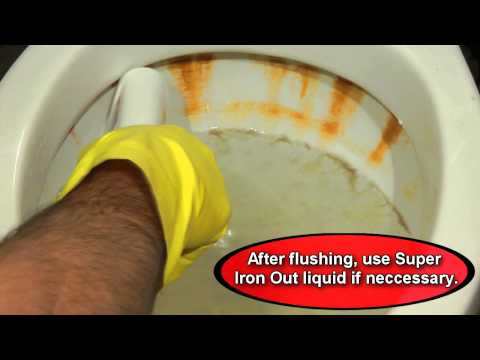 how to clean brown calcium buildup in toilet bowl